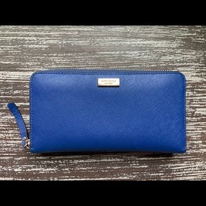 Kate Spade Blue Newbury Lane Neda Wallet